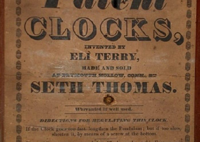 Seth Thomas Clock Label